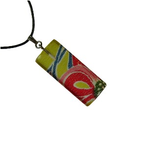 Acrylic necklace - pink/yellow - Japanya