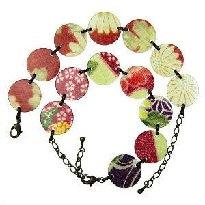 Acrylic bracelet - red/green - Japanya