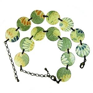 Acrylic bracelet - green - Japanya