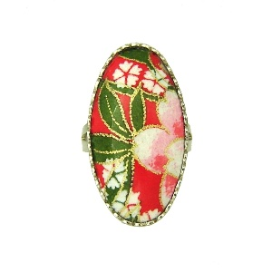 Washi ring - 3 - Japanya :  washi paper designer rings jewelry