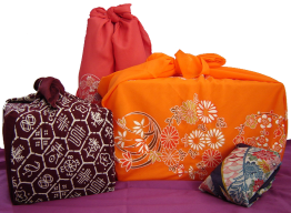 Gifts wrapped with furoshiki