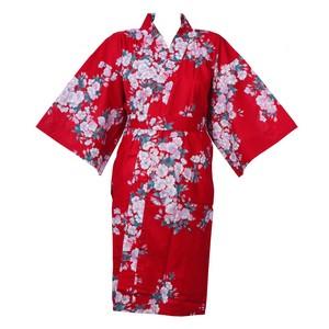 452ce61cf Cherry Blossom Wrapper (Kimono Dressing Gown) - Red - Japanya