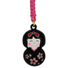 Cherry Kokeshi charm - black-1