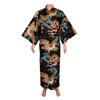 Dragon and Eagle Japanese Kimono Black-2
