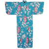 Lady with Blossom Petite Kimono, Turquoise-2