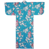 Lady with Blossom Petite Kimono, Turquoise-1