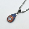 Small Teardrop necklace - Blue-2