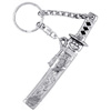Sword Key Ring - silver with black-2