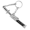 Sword Key Ring - silver with black-1