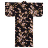 Butterfly and Cherry Blossoms Yukata, Black-2
