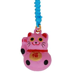 lucky cat pink mobile phone charm japanya