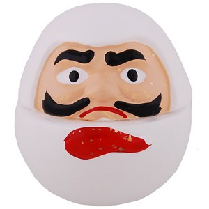 Mini Daruma porcelain ornament - white