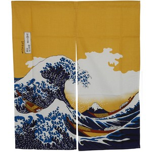 The Great Wave Noren Japanese Curtain - short