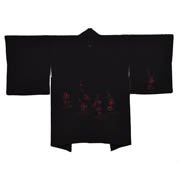 Black Haori Red Floral