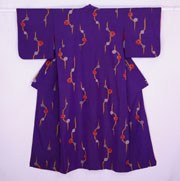 Colourful Branches Purple Vintage Kimono