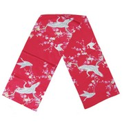 Crane and plum blossom scarf - red