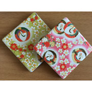 Crane Japanese Coasters (set of 2)