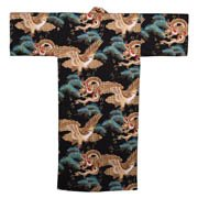 Dragon and Eagle Kimono Black