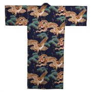 Dragon and Eagle Kimono Blue