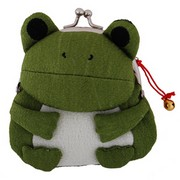 Frog purse - dark green