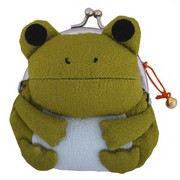 Frog purse - olive green