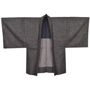 Grey Mens Haori
