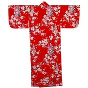 Lady with Blossom Petite Kimono, Red