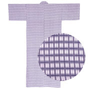 Lined Gauze Yukata - Nemaki Lattice 6
