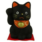 Japanese Lucky Cat - black