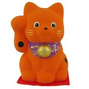Japanese Lucky Cat - red