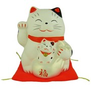 Lucky Cat with baby money bank