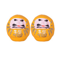 Mini Daruma - Yellow x 2