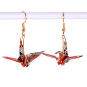 Origami Crane Earrings (Mini Fans)