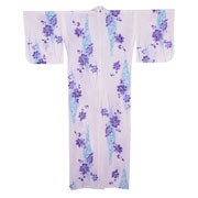 Purple Flowers White Yukata