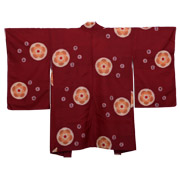 Red/Brown Cotton Haori - used