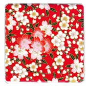 Red Cherry Blossom Coaster x 1