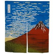 Red Fuji Noren Japanese Curtain