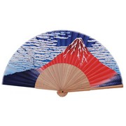 Red Mount Fuji Japanese Folding Fan