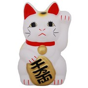 Small Japanese Fortune cat (Manekineko) - Left