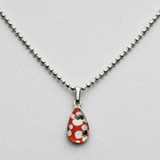 Small Teardrop necklace - Orange Red