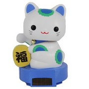 Solar powered Lucky Cat - Blue (Success)