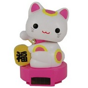 Solar powered Lucky Cat - Pink (Love)