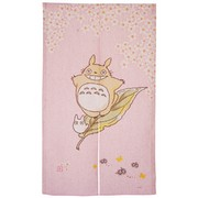 Totoro Noren Japanese Curtain (long) - pink
