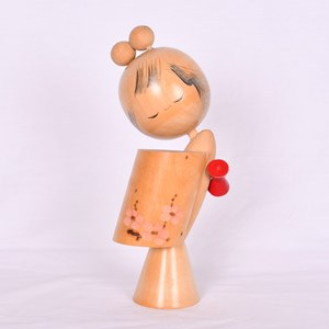 Vintage Kokeshi Doll Red Obi